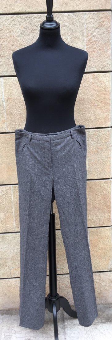 CHRISTIAN DIOR Pantalon en drap de laine grise  Taille