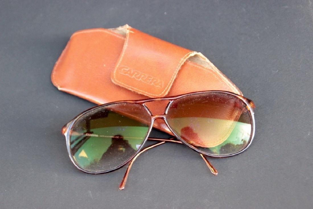 CARRERA Paire de lunettes de soleil en acétate brun dan