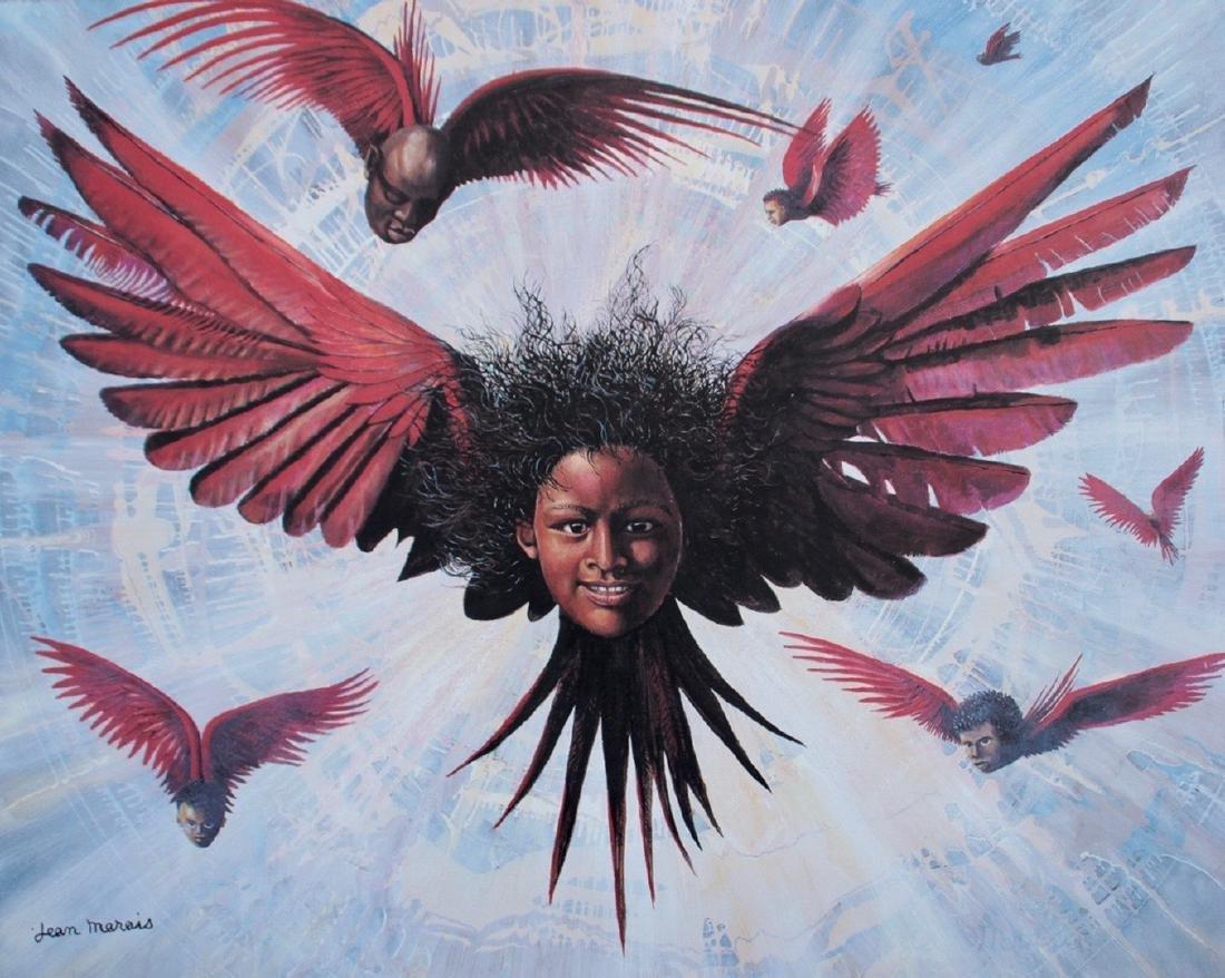 Jean MARAIS (1913-1998) L'ange noir Lithographie en