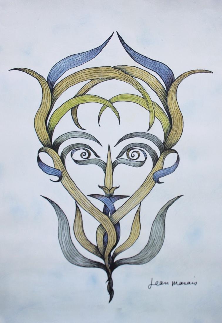 Jean MARAIS (1913-1998) L'homme plante Lithographie en