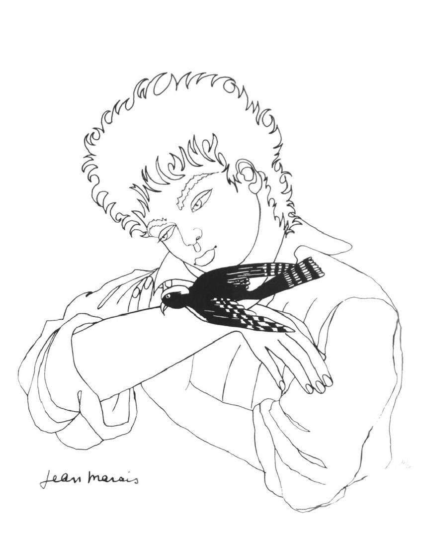 Jean MARAIS (1913-1998) L'enfant à la pie Lithographie