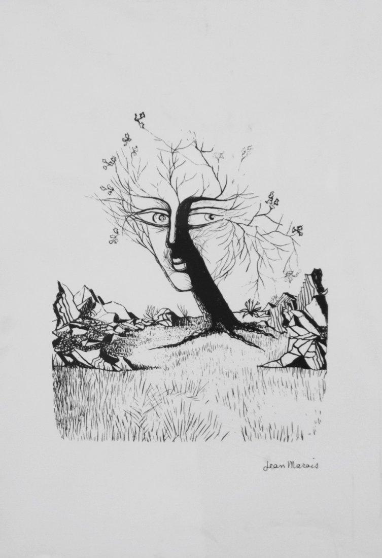 Jean MARAIS (1913-1998) L'arbre au visage Lithographie