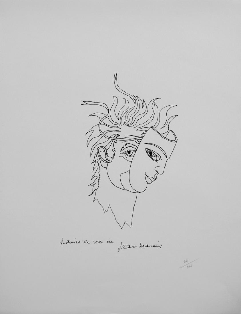Jean MARAIS (1913-1998) Autoportrait au masque