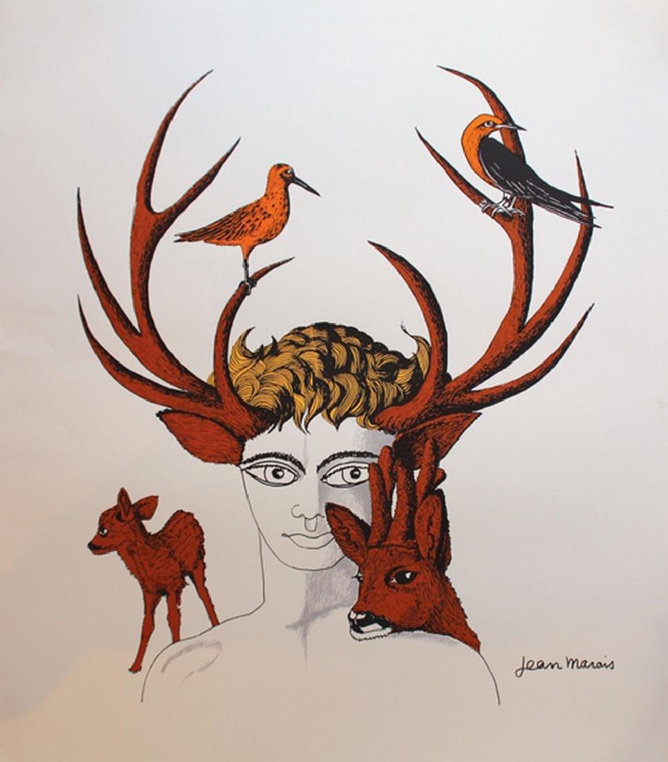 Jean MARAIS (1913-1998) Le faune aux bois de cerf