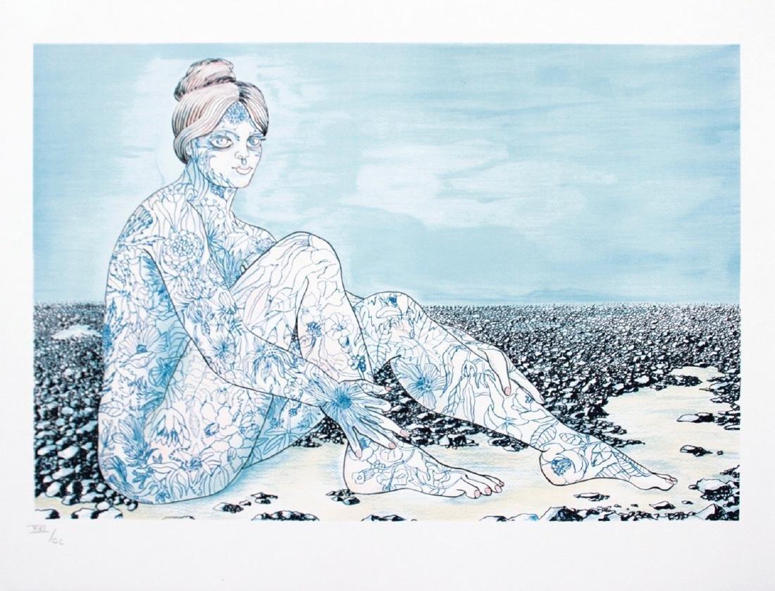 Jean MARAIS (1913-1998) La femme tatouée Lithographie