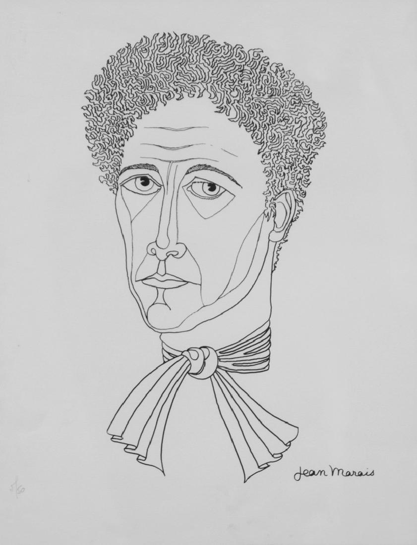 Jean MARAIS (1913-1998) Portrait de Jean COCTEAU