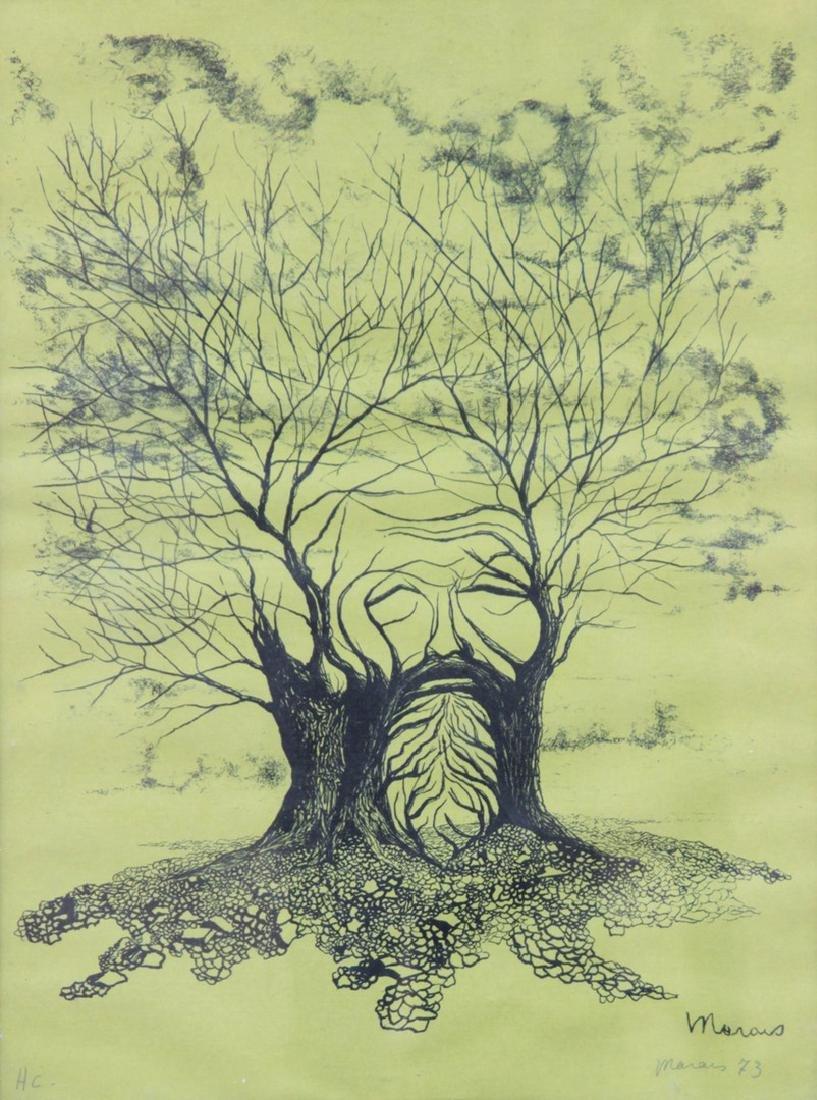 Jean MARAIS (1913-1998) Le vieil arbre, 1973