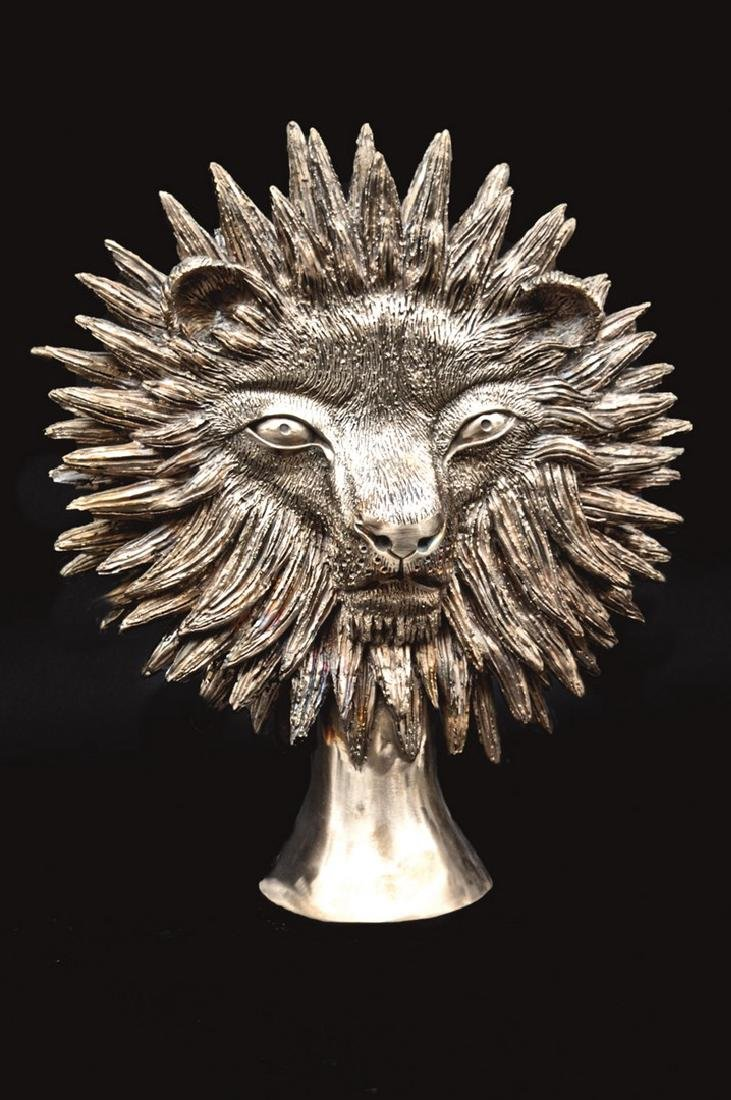 Jean MARAIS (1913-1998) Tête de lion Epreuve en bronze