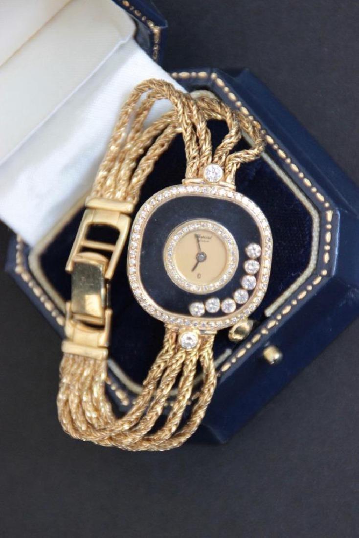 CHOPARD  Montre modèle Happy Diamonds en or jaune et