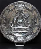 CHRISTOFLE et Cie, XIXe siècle Important plat décoratif