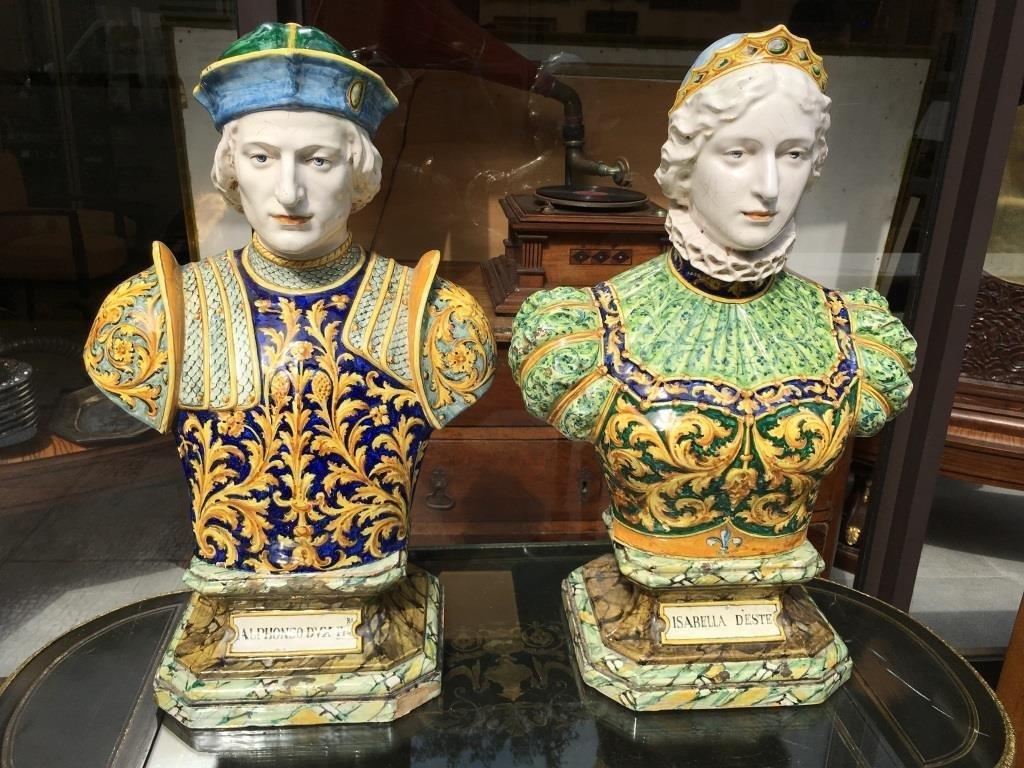 Travail italien du XIXe siècle Alphonso DVX et Isabelle