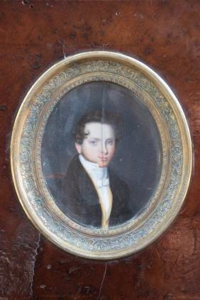 Guglielmo FAIJA (1803-c.1861) Miniature Signé sur le