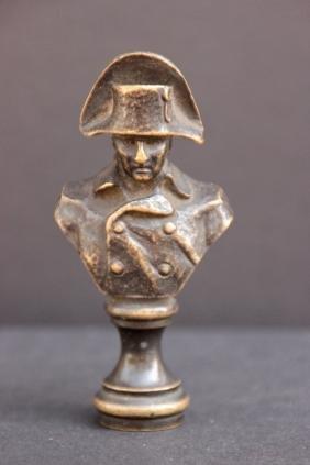 Seau en bronze à patine brune figurant Napoléon Ier H :