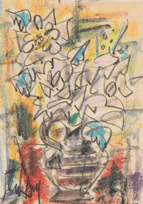 GEN PAUL (1895-1975) Nature morte au bouquet Pastel 44