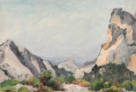 André LE MOIGNE (1898-1987) Paysage de Montagne Huile