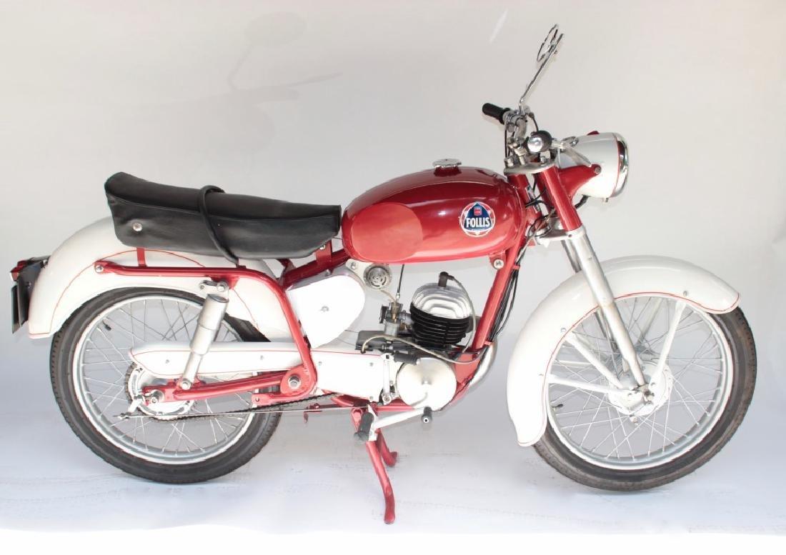 FOLLIS, moto 125 cm3 de 1957 Vendu avec son titre de