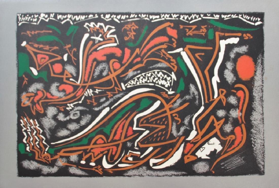 André MASSON (1896-1987)  Composition abstraite  3ème