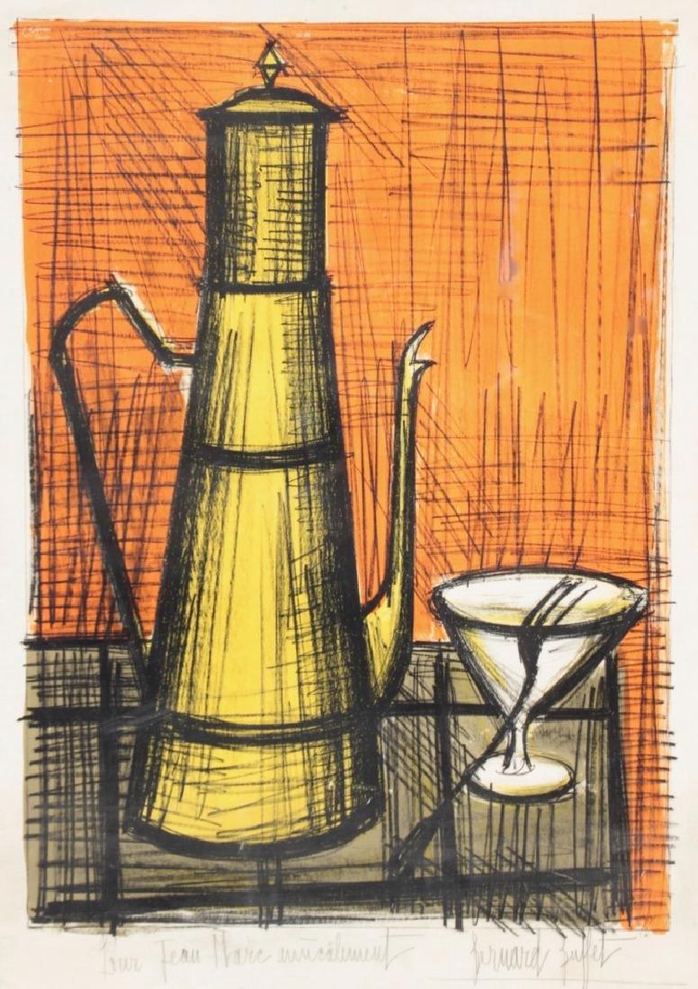 Bernard BUFFET (1928-1999) La théière Lithographie en