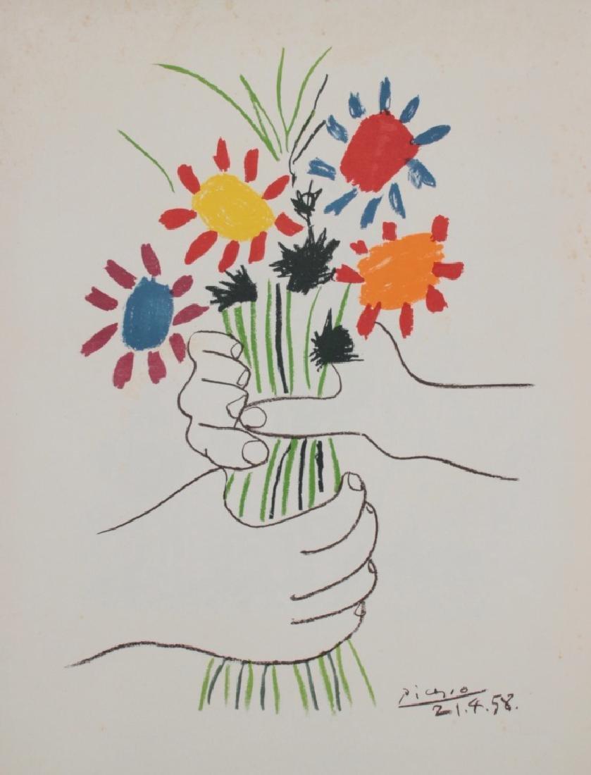 Pablo PICASSO (1881-1973), d'après Bouquet pour la