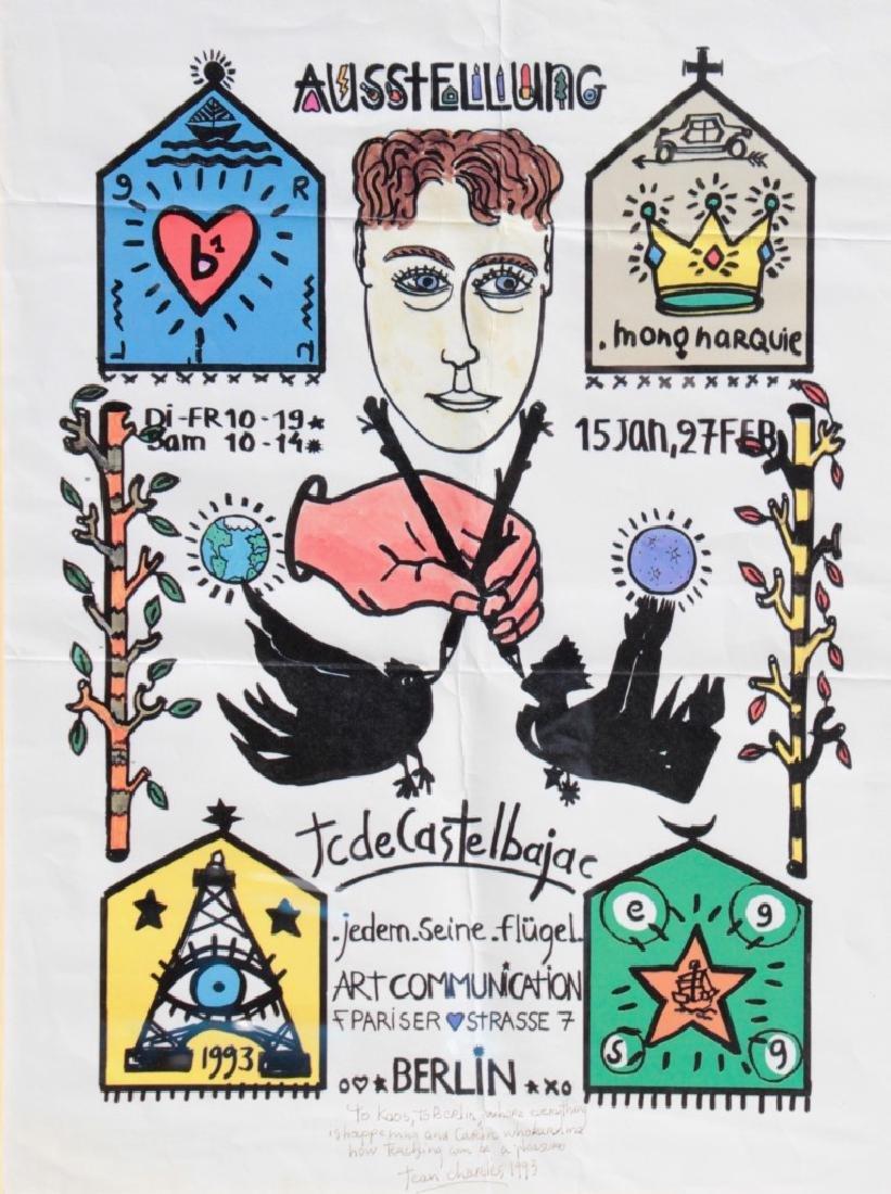 Jean Charles de CASTELBAJAC (1949) Ausstellung Affiche