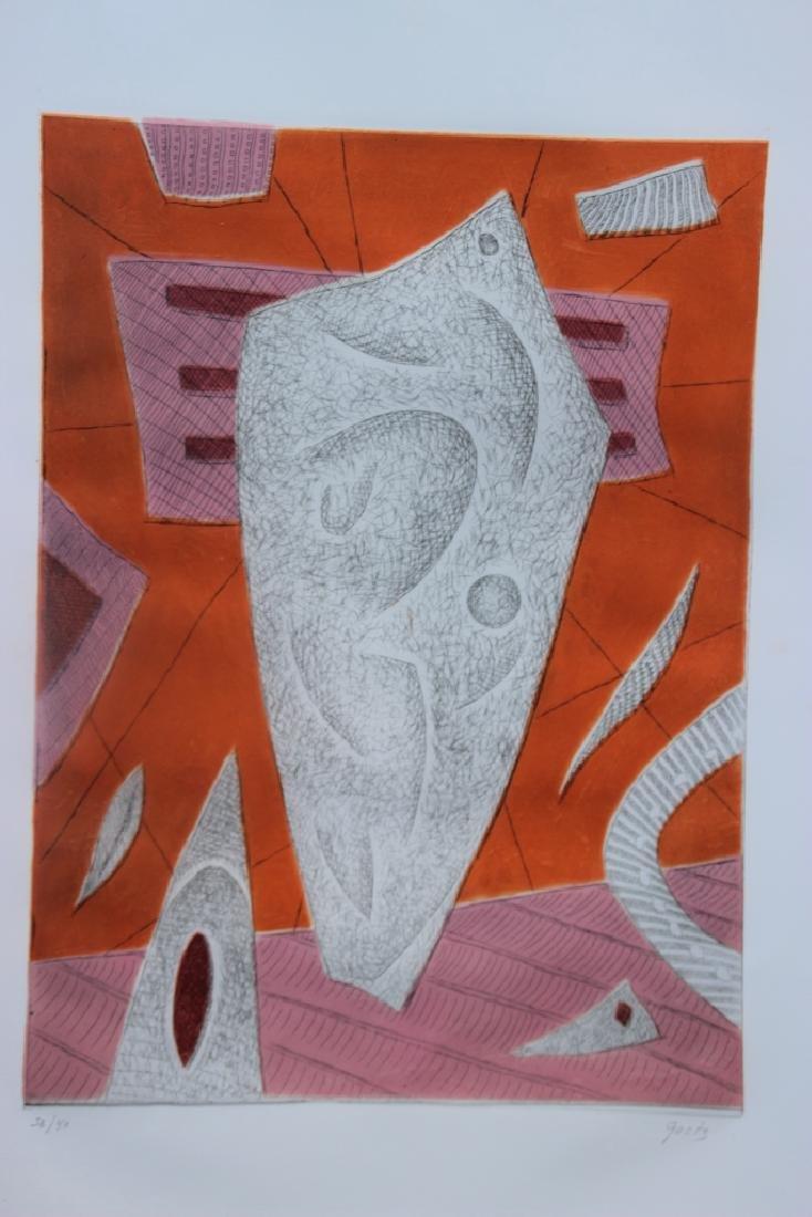 Henri GOETZ (1909-1989) Composition abstraite en orange
