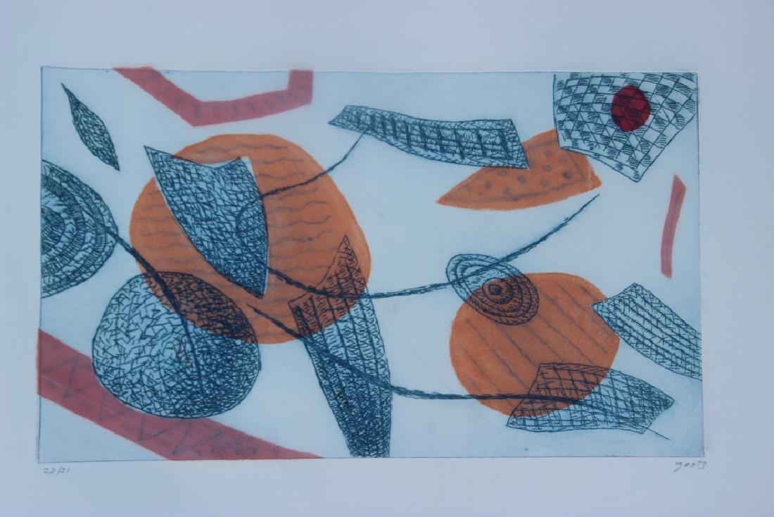Henri GOETZ (1909-1989) Composition abstraite Gravure