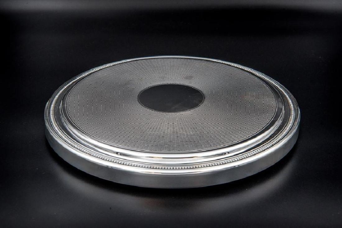 CHRISTOFLE Dessous de plat en métal argenté  D : 24 cm