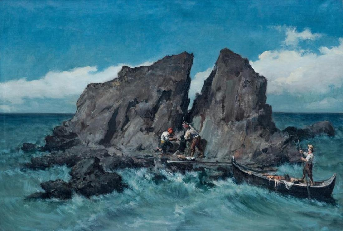 Lodovico RAYMOND (1825-1898) Les pêcheurs napolitains