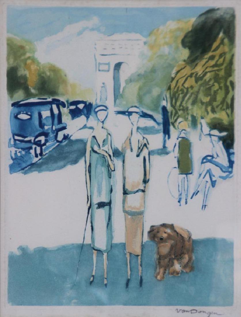 Kees VAN DONGEN (1877-1968), d'après Deux élégantes