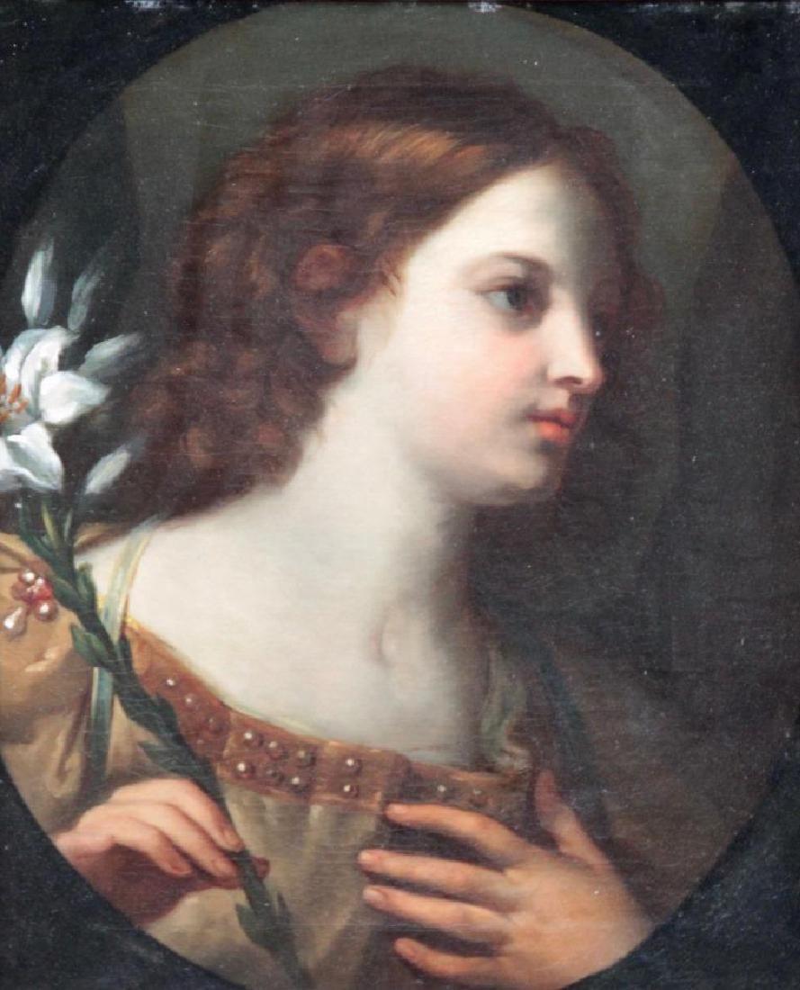 Elisabetta SIRANI (1638-1665) L'ange au rameau Huile
