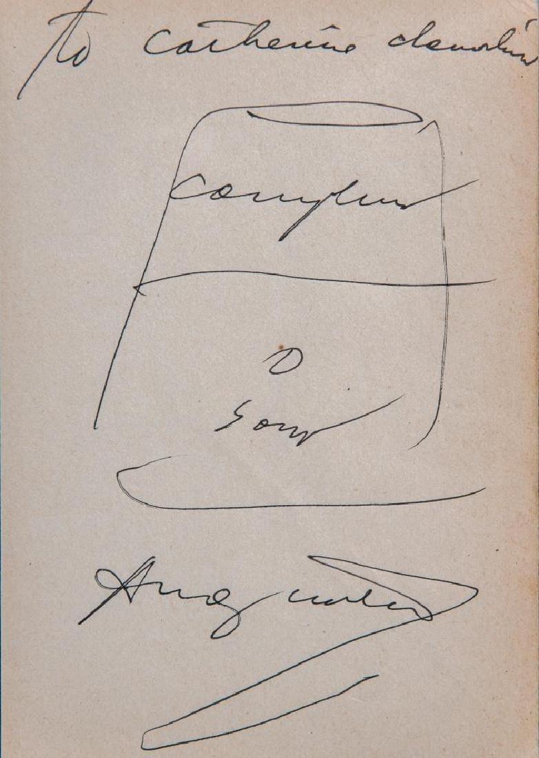 Andy WARHOL (1928-1987) Campbell Soup Encre sur papier.