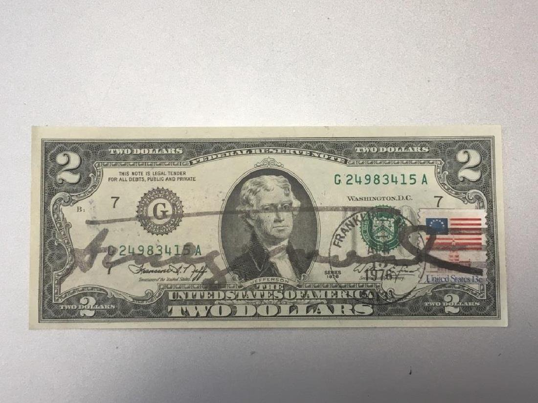 Andy WARHOL (1928-1987) Two Dollars - 1976 (cachet de