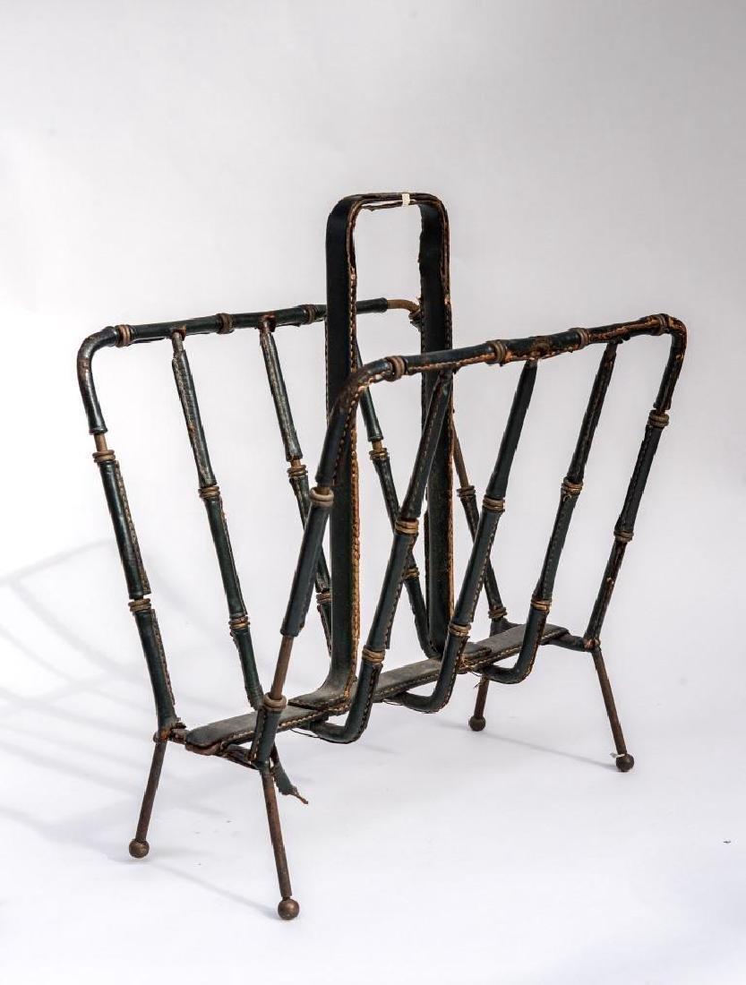 JACQUES ADNET (1900-1984)  Porte-revue à armature en