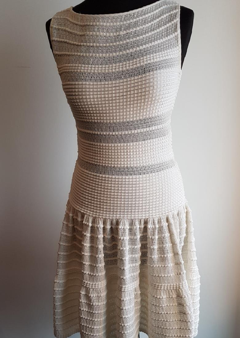 AZZEDINE ALAIA Robe en maille viscose mélangée blanc,