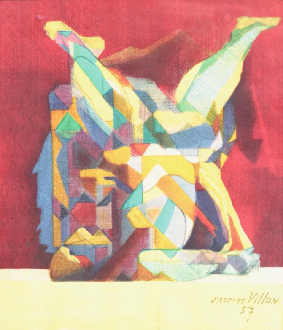 Jacques VILLON (1875-1963) Composition abstraite - 1957