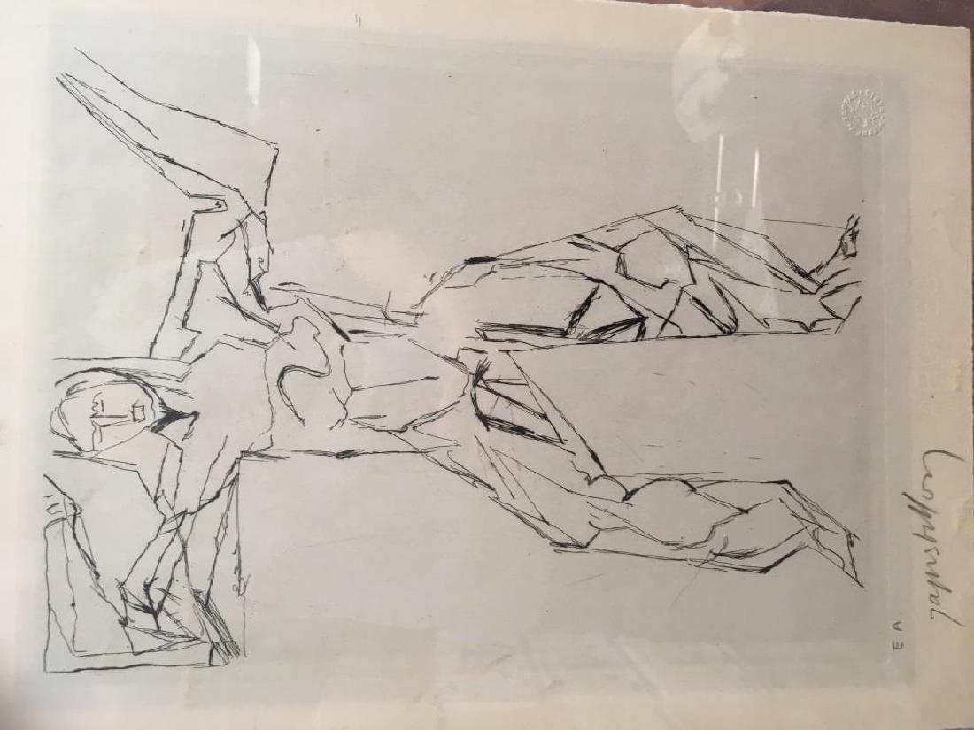 Jacques VILLON (1875-1963) Personnage Gravure en noir