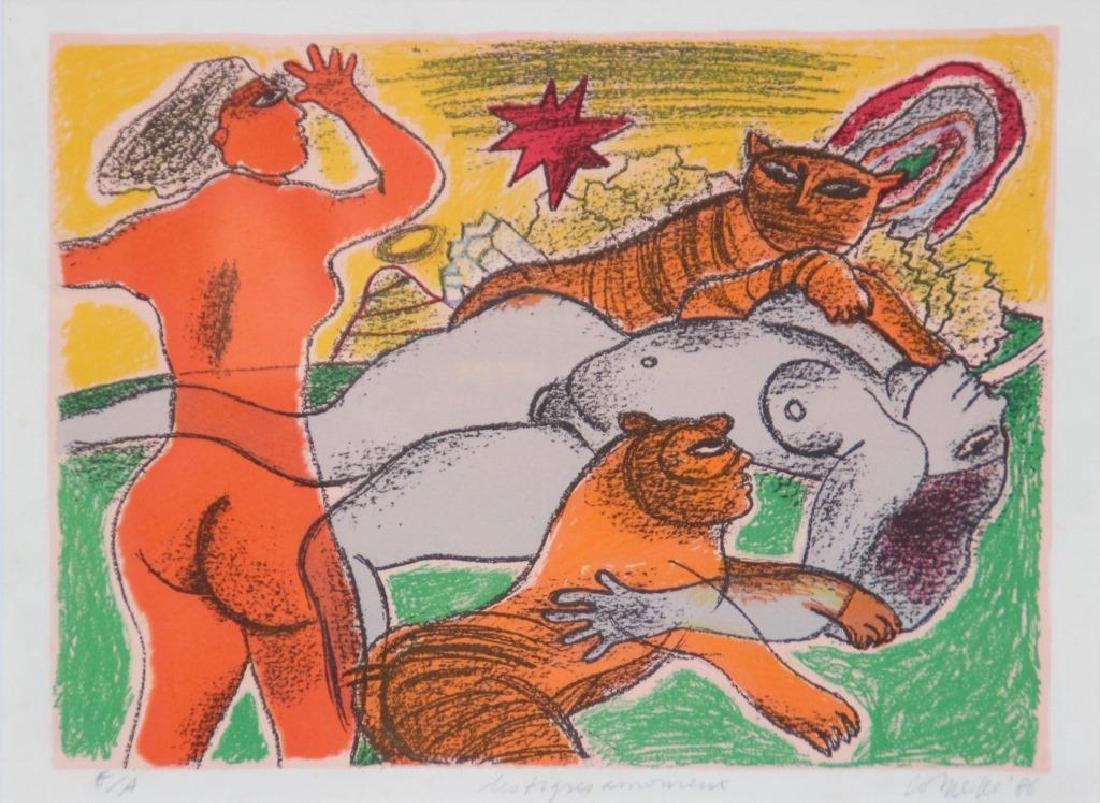 Guillaume CORNEILLE (1922-2010) Les tigres amoureux -