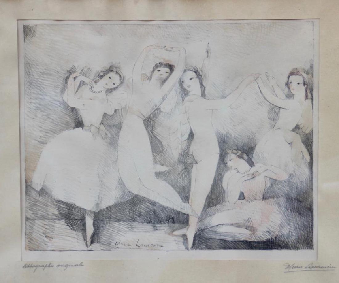 Marie LAURENCIN (1883-1956) Les danseuses Lithographie