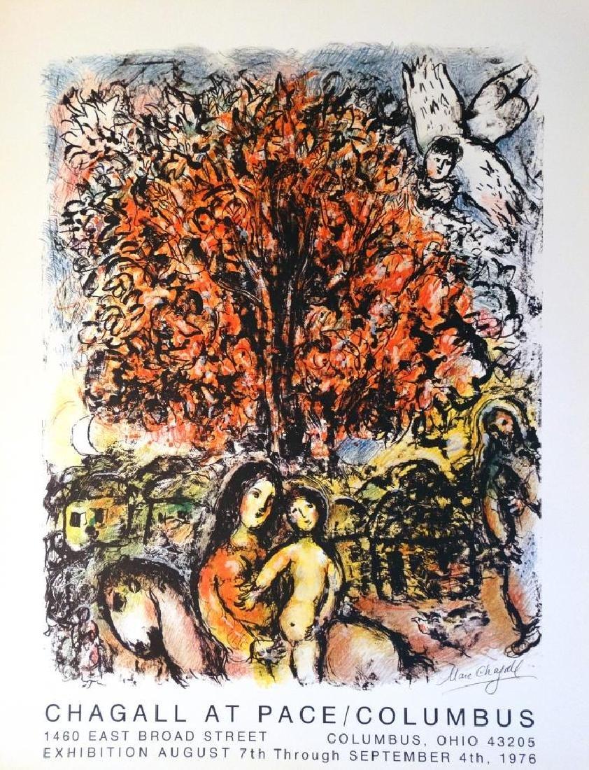 Marc CHAGALL (1887-1985)  Affiche historique Exposition