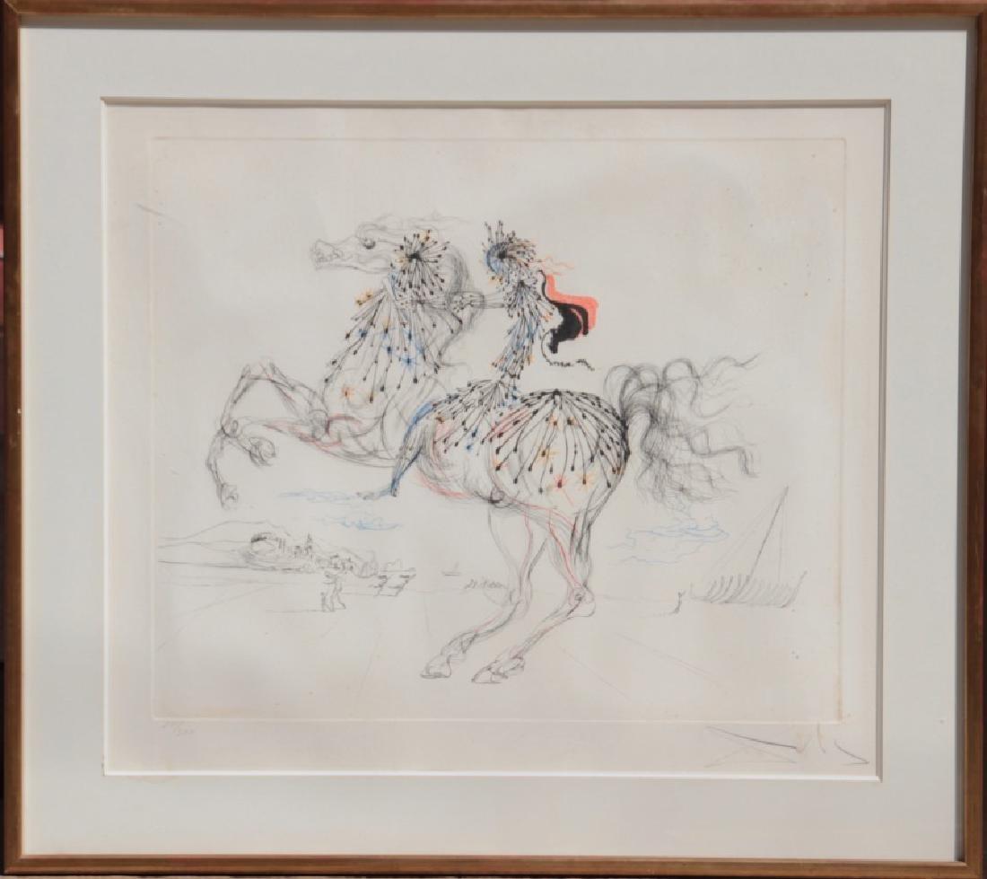 Salvador DALI (1904-1989) La chevauchée Lithographie en