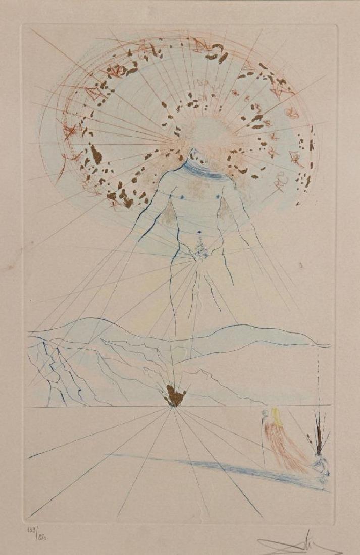 Salvador DALI (1904-1989) L'homme céleste Lithographie
