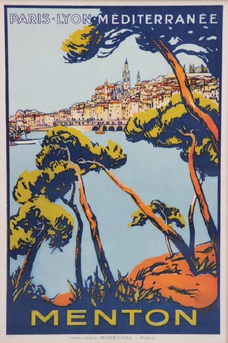 PLM - Côte d'Azur  Menton Affiche dessinée par Roger