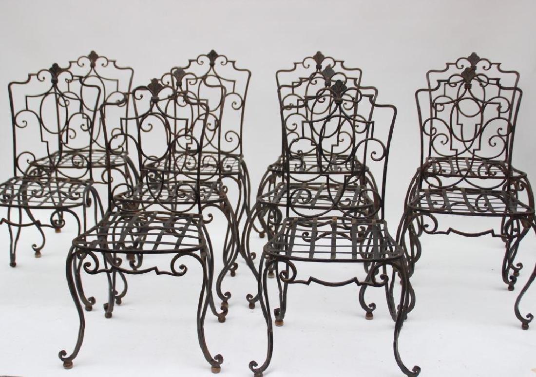 Jean-Charles MOREUX (1889-1956)  Suite de dix chaises