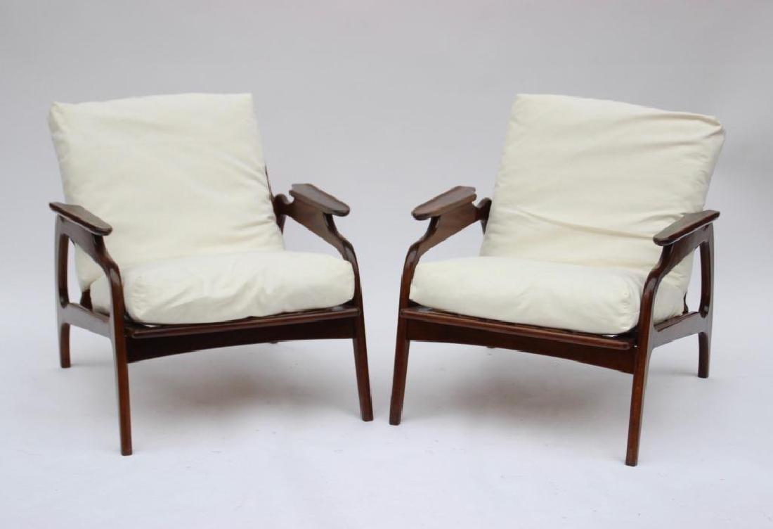 Adrian PEARSALL (1926-2011) Paire de fauteuils à