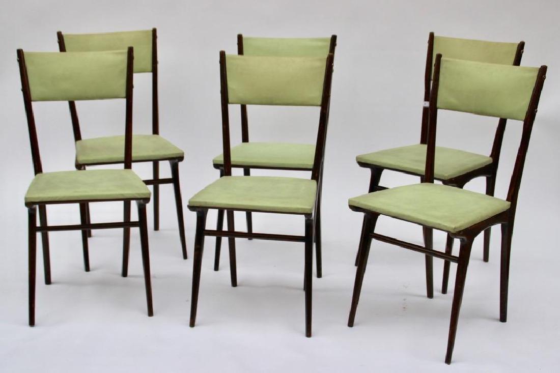 Carlo DE CARLI (1910-1999) Suite de six chaises à