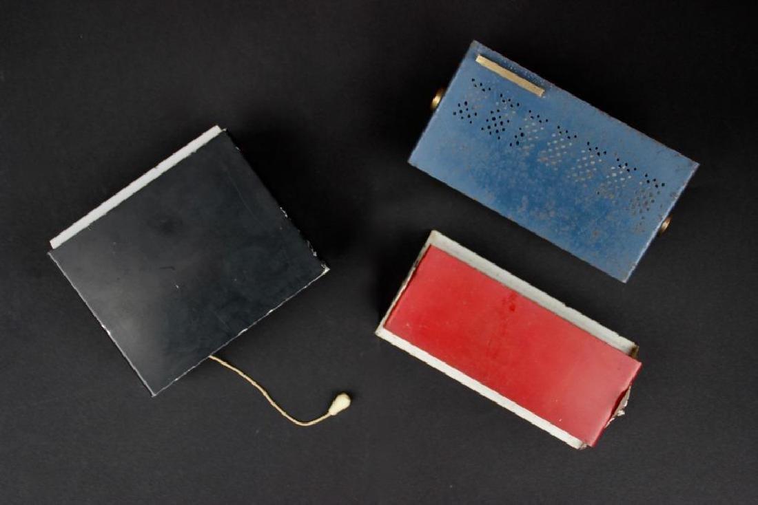 Lot de trois appliques en métal laqué Années 1950