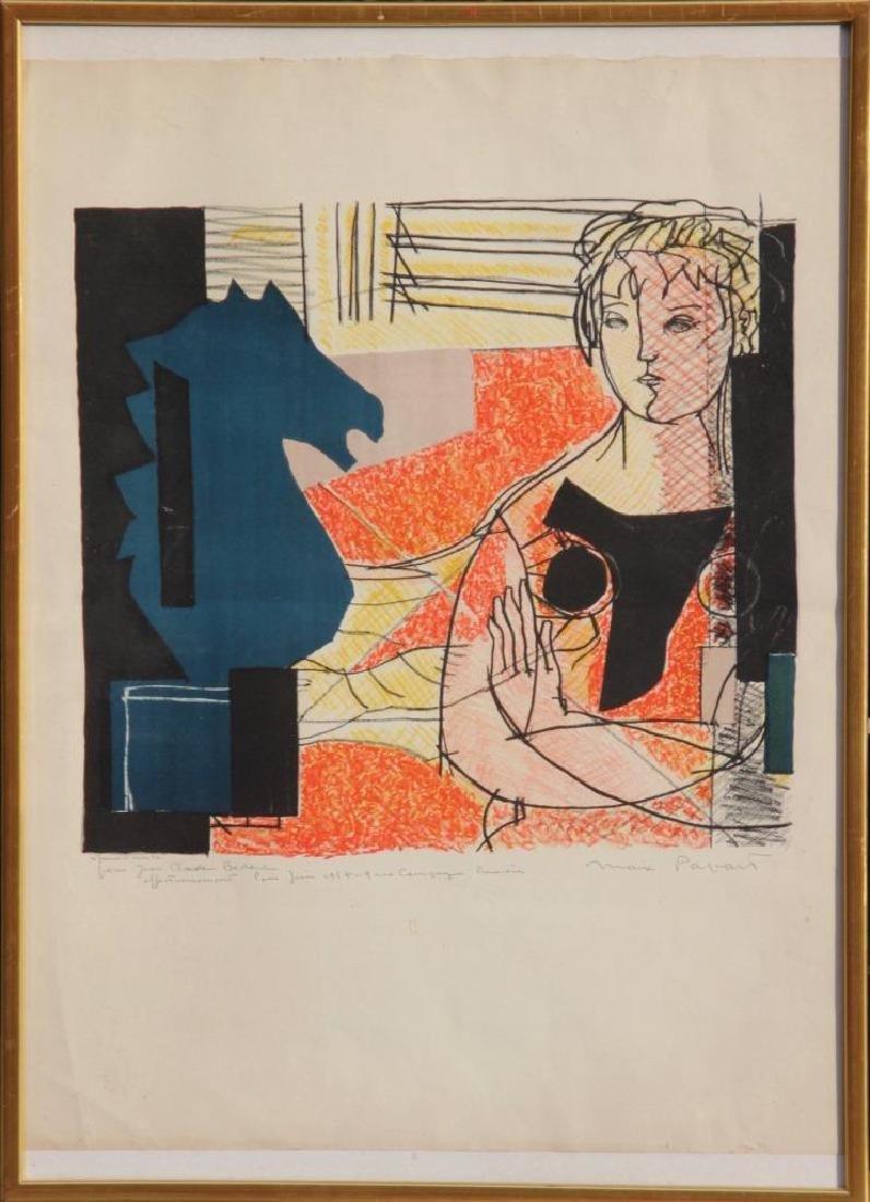 Max PAPART (1911-1994) La femme et le cavalier - 1957