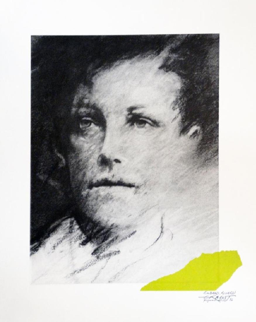 Ernest PIGNON-ERNEST (1942) « Rimbaud Regards  1»  -