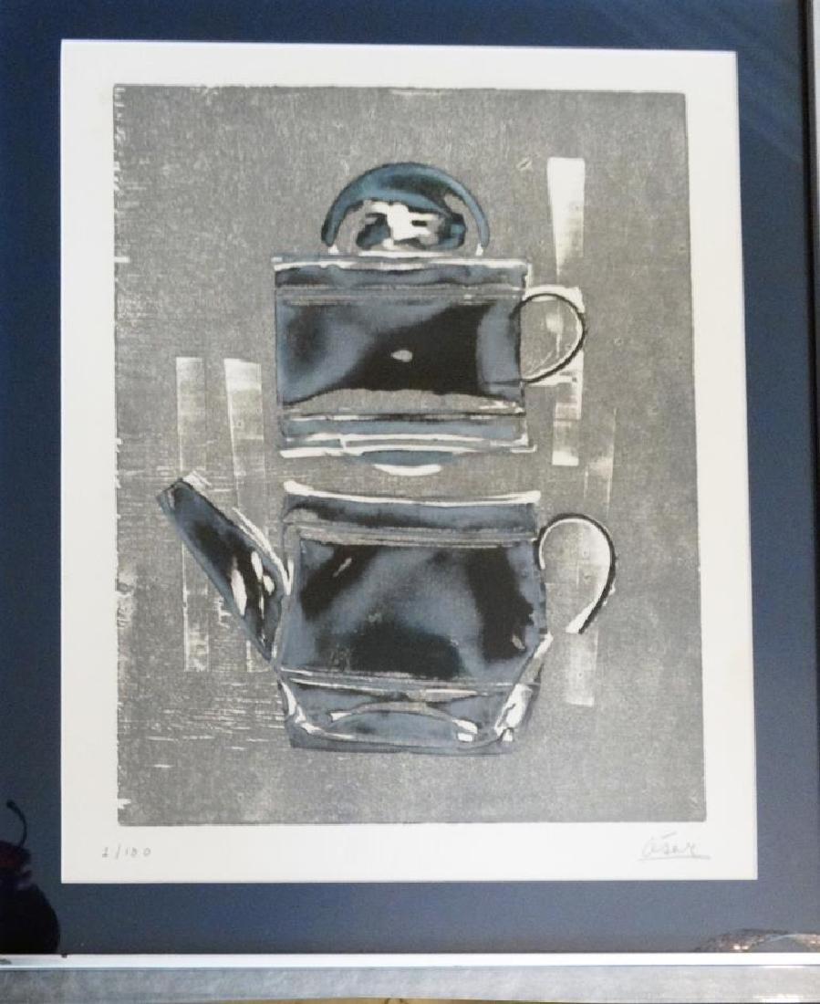 CÉSAR (1921-1998) La théière Lithographie en couleurs