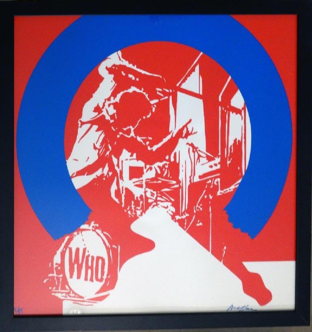 Ivan MESSAC (1948) The Who   Sérigraphie sur papier